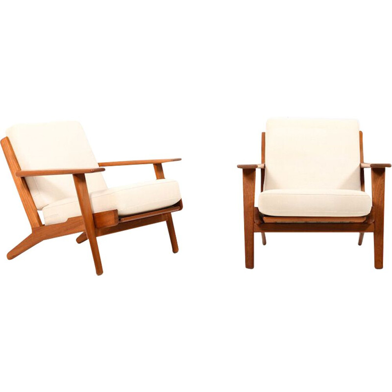 Pair of vintage Lounge Chairs in Teak by Hans J. Wegner