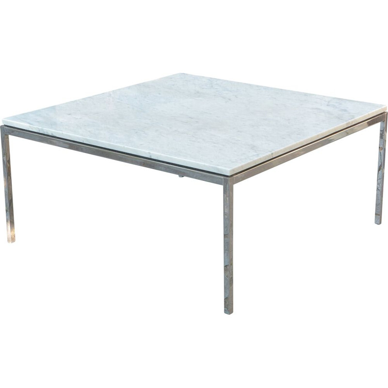Vintage coffee table in Florence marble Knoll  1955s