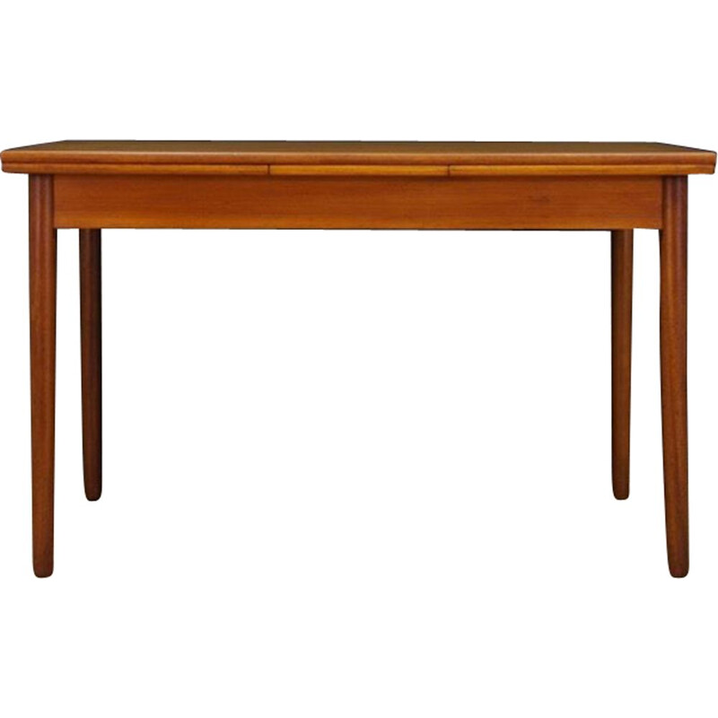 Vintage teak dining table with 2 inserts scandinavian 1960s