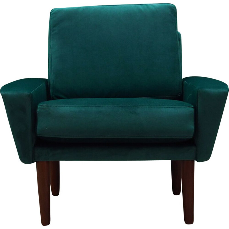 Vintage armchair in green velvet 1960s