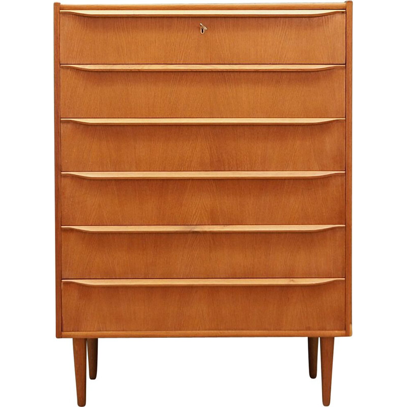 Vintage chest of drawers in ash Denmark 1960s