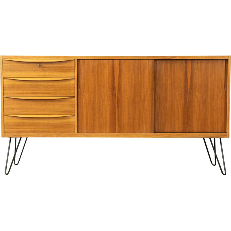 Vintage sideboard  in walnut veneer Germany 1950