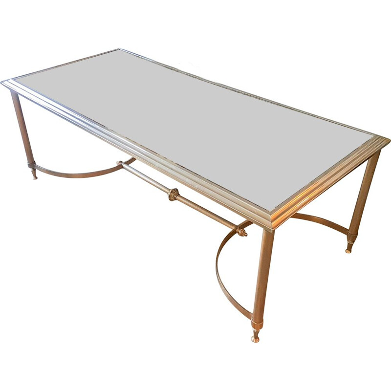 Vintage coffee table Maison Jansen 1950s