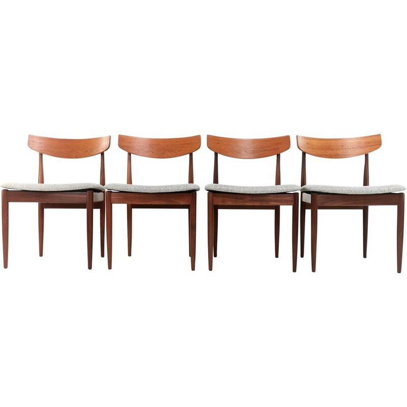 Set of 4 vintage Kofod Larsen Teak G Plan Danish dining chairs 1960