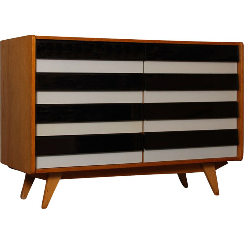 Vintage chest of drawers model U-453, by Jiri Jiroutek 1960