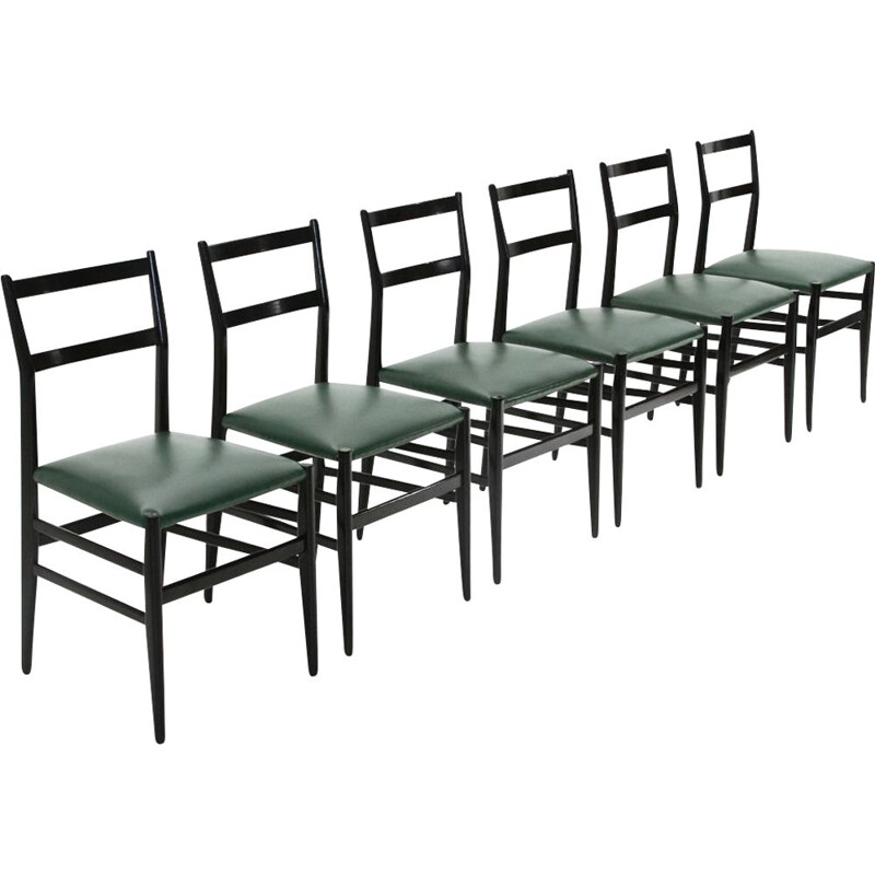Set of vintage 6 chairs by Gio Ponti for Cassina, 1950s