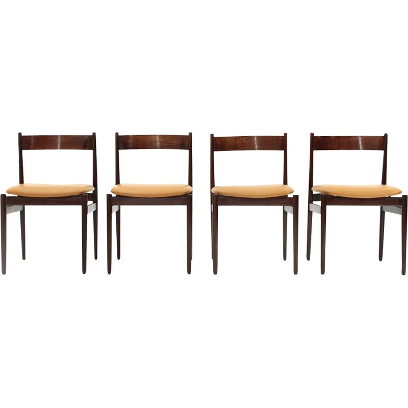 Set of 4  chairs by Gianfranco frattini for Cassina, 1960s