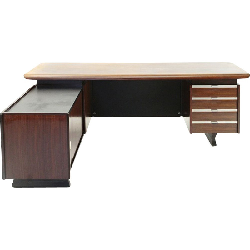 Vintage Desk with built-in drawer unit and sideboard by Anonima Castelli, 1960s