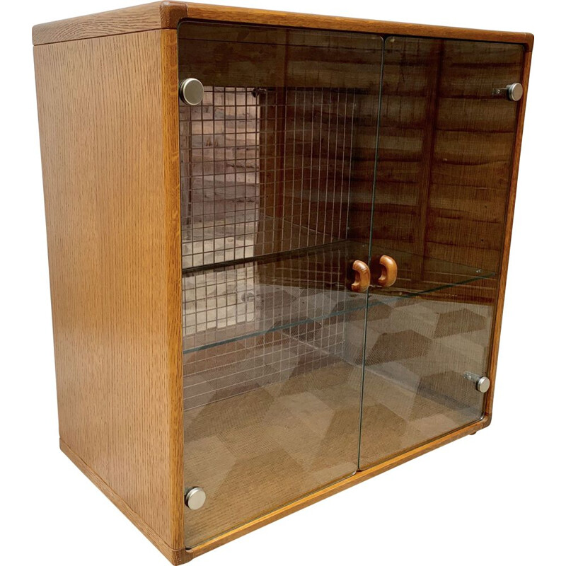 Vintage Glass Cabinet Bookshelf Cupboard by Stag