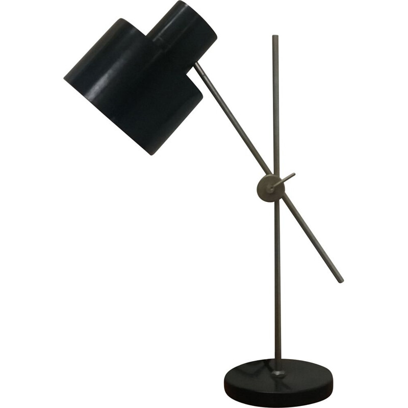 Vintage Industrial black table lamp,Czechoslovakia 1960s