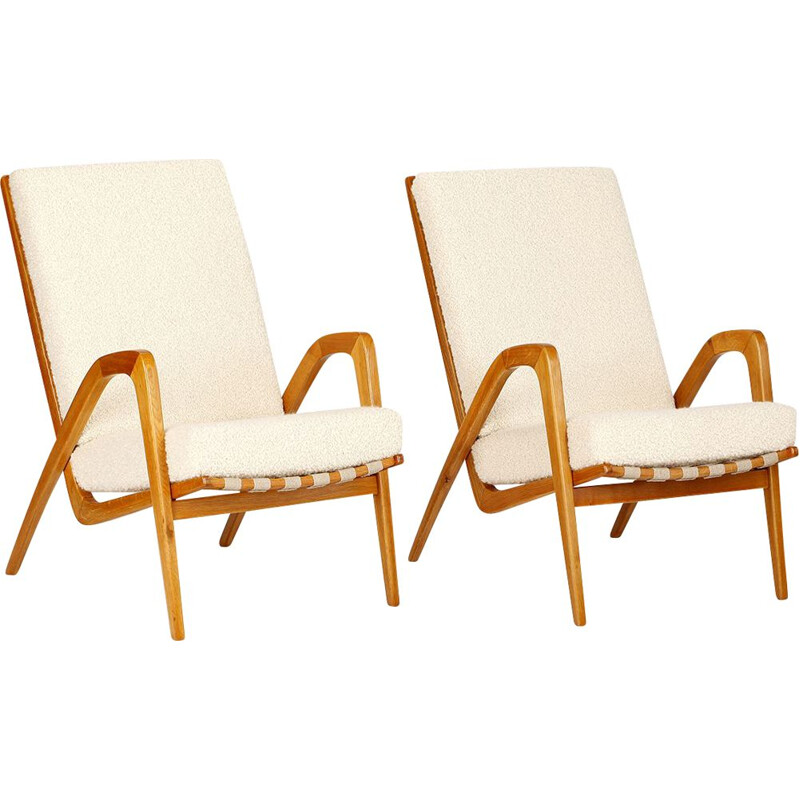 Mid-Century Armchair by Jan Vanek for ULUV 1960s
