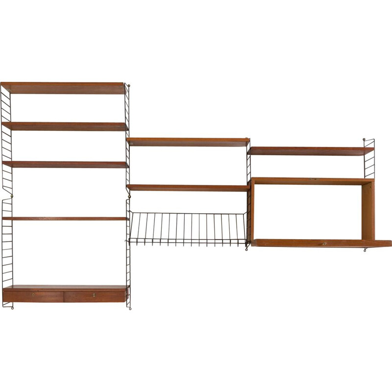 Vintage Original String wall unit from by Strinning Sweden 1964