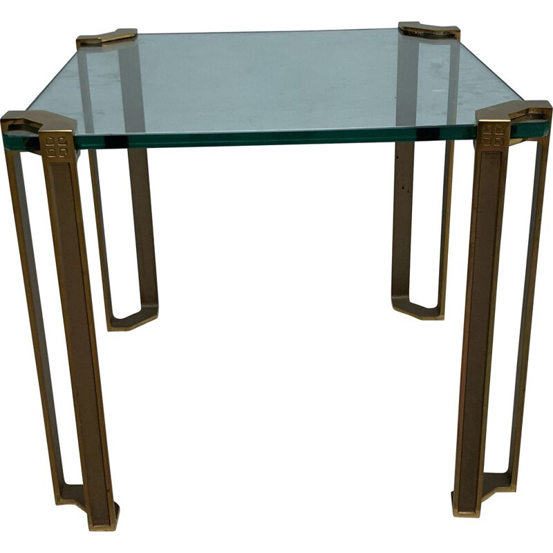 Vintage sidetable by  Peter Chyczy brass 1970s