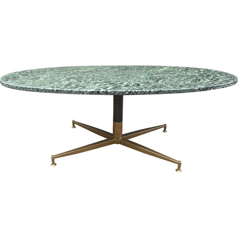 Vintage coffee table green marble Michel Kin-Arflex