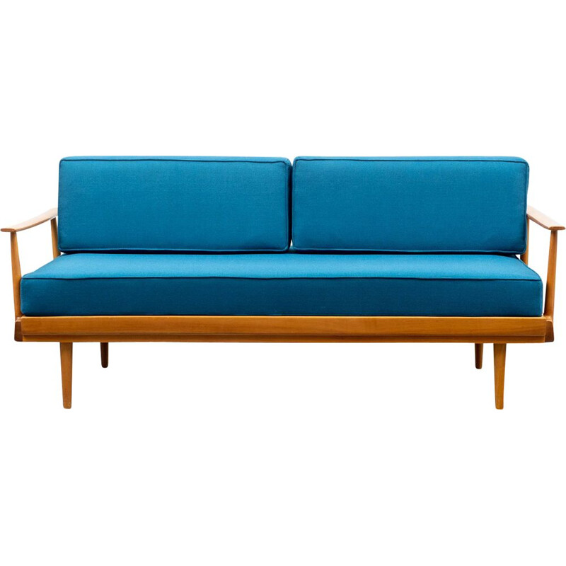 Vintage daybed, cherrywood Knoll Antimott  1960s