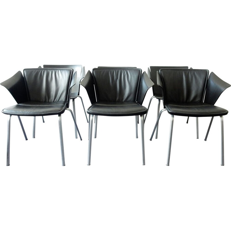 Set of 6 vintage model 'VM3' Vico armchairs by Vico Magistretti for Fritz Hansen, 1990s