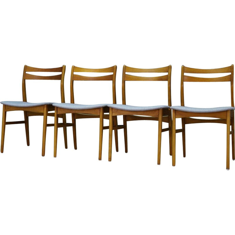 Set of 4 vintage chairs danish 1970