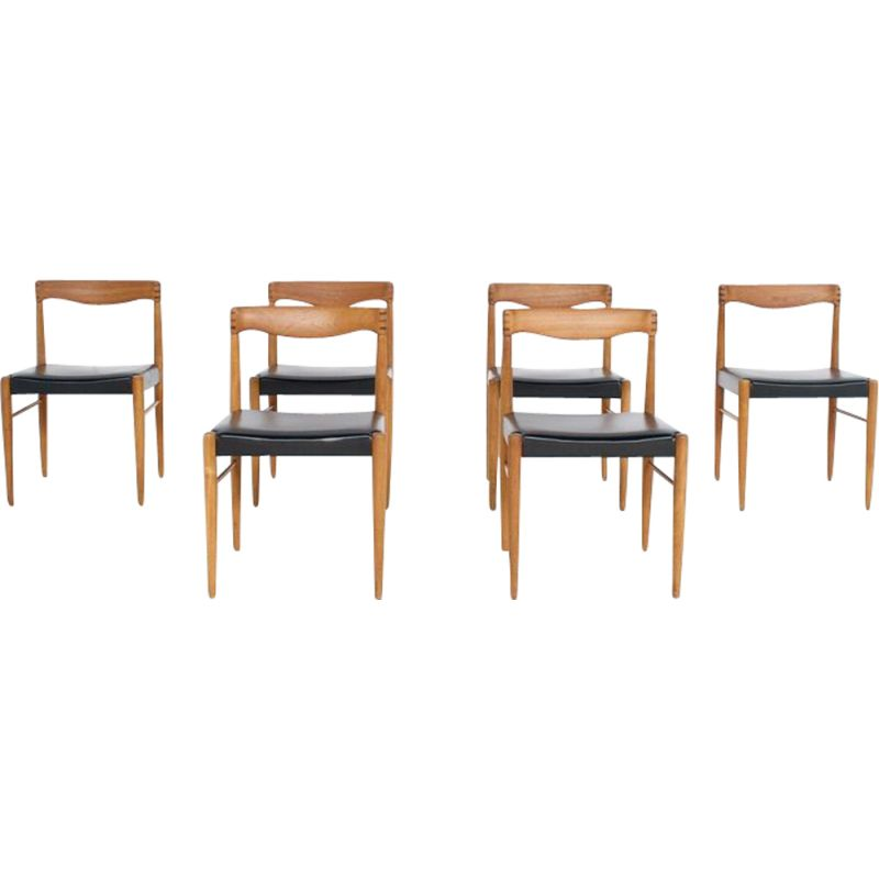 Suite of 6 vintage chairs by Henry Walter Klein, Bramin 1960