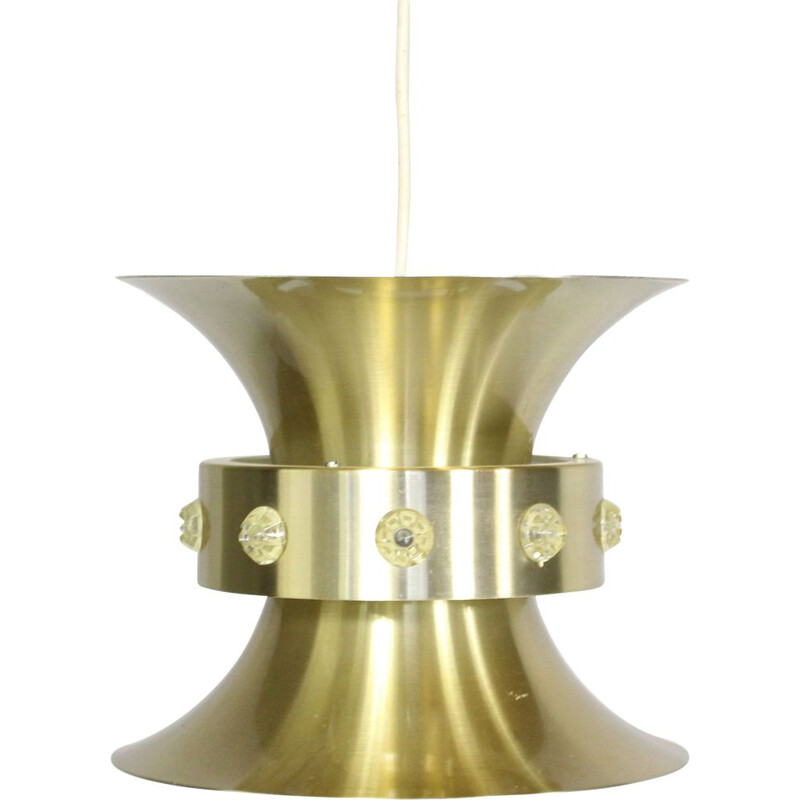 Vintage Brass Pendant Lamp by Carl Thore by Granhaga 1960s