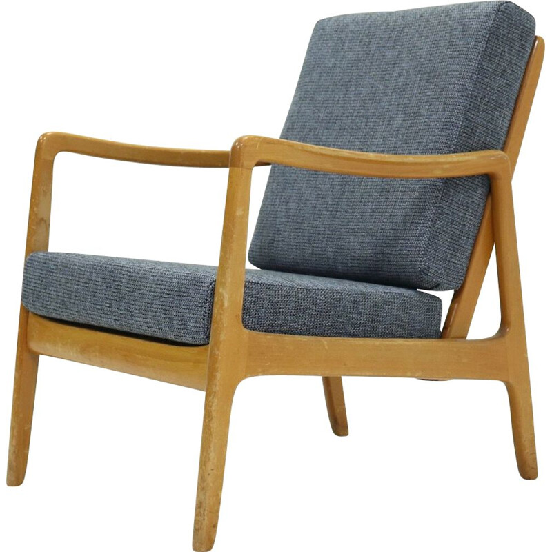 Vintage FD109 Lounge Chair by Ole Wanscher for France & Son, 1950s