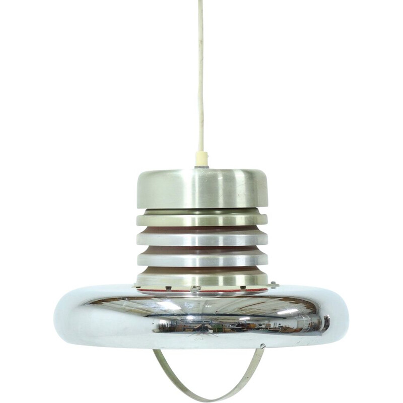 Vintage Ceiling Lamp Pendant by Lakro Dutch 1960s