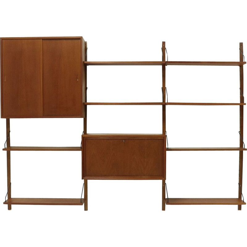 Vintage Royal System Teak Wall Unit by Poul Cadovius for Cado Danemark, 1960s