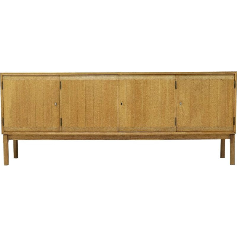 Vintage Solid Oak Sideboard by Kurt Ostervig for Vamo Sonderborg 1960s