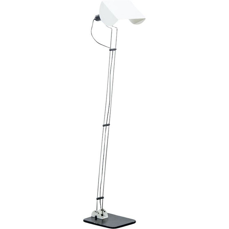 Italian floor lamp in metal - 1980s