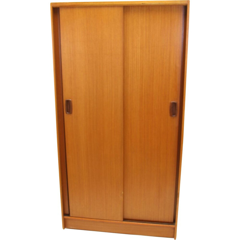 Vintage Teak Linen or Bedroom cupboard with sliding doors