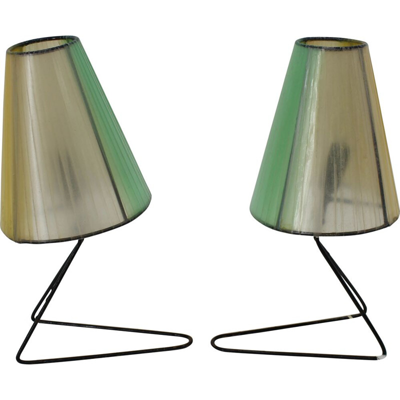 Set of 2 Mid-Century Table or Bedside Lamps 1960