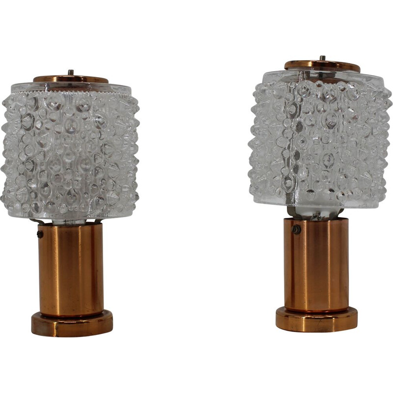 Set of 2 Table Lamps 25W by Kamenicky Senov 1970s