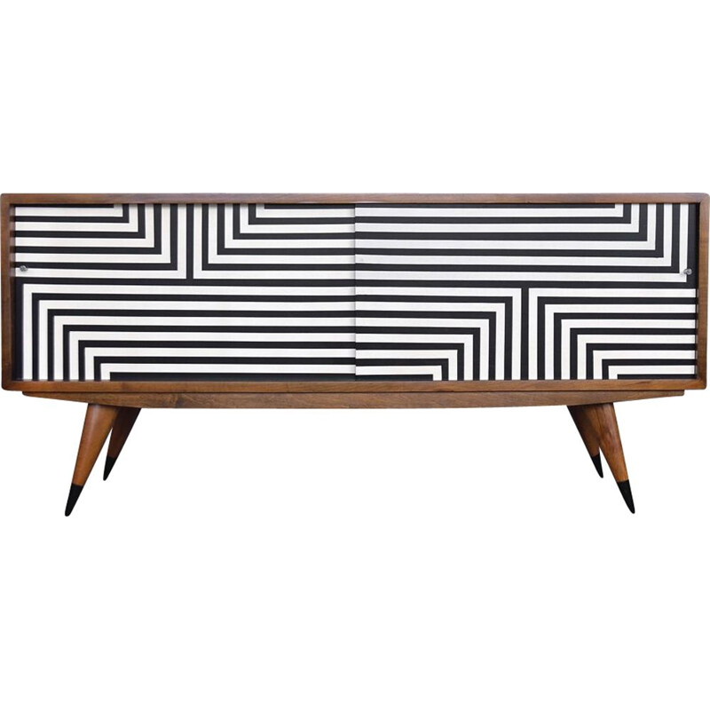 Mid-Century Sideboard with Hand-Painted Pattern,Scandinavian 1960s