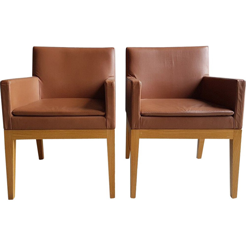 Pair of vintage bridge armchairs db Andrée Putman 1978