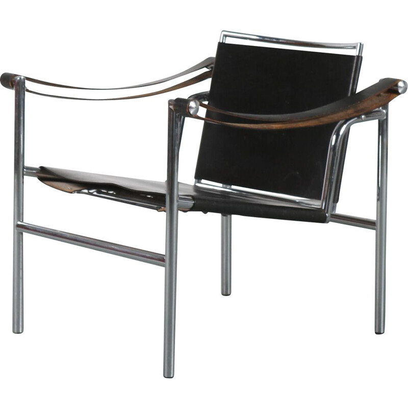 Vintage Lounge chair Le Corbusier Italy 1980s