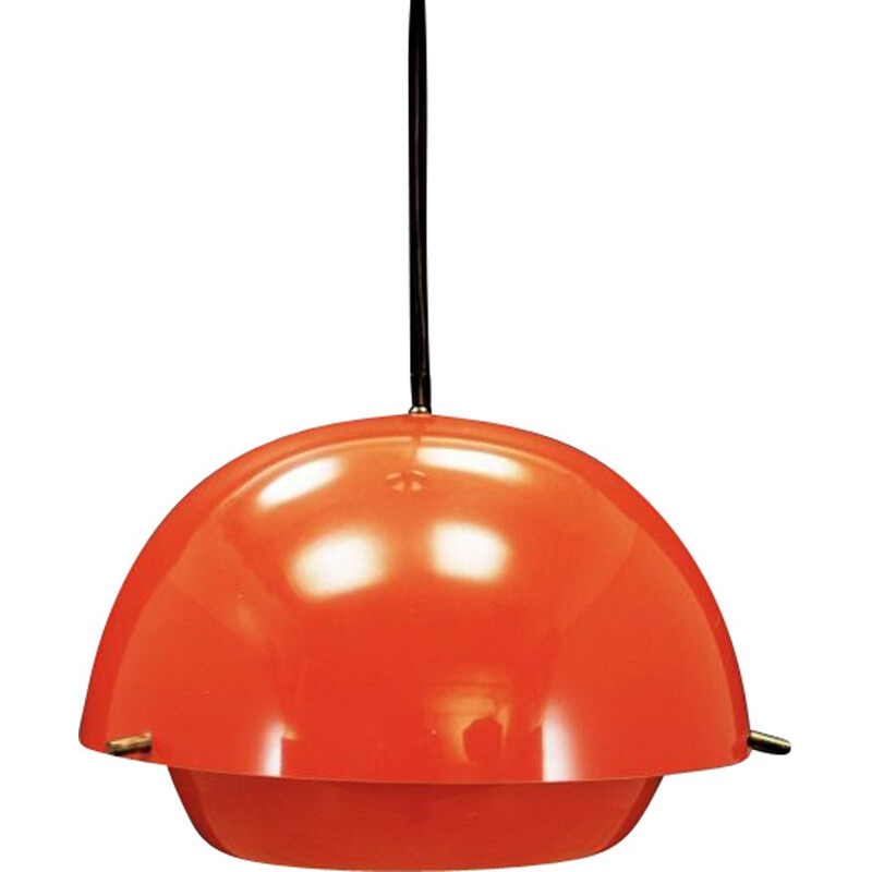 Vintage pendant lamp red plastic Danish 1960s