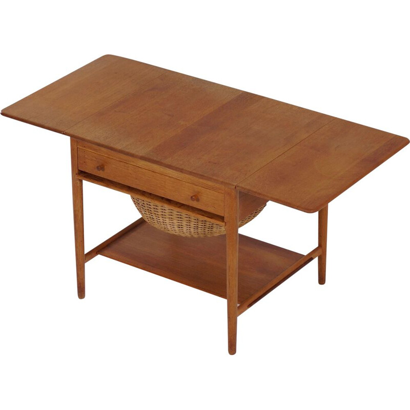 Vintage Sewing table AT33 by Hans Wegner for Andreas Tuck, 1950s