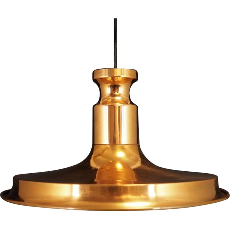 Vintage Scandinavian pendant lamp in copper 1970