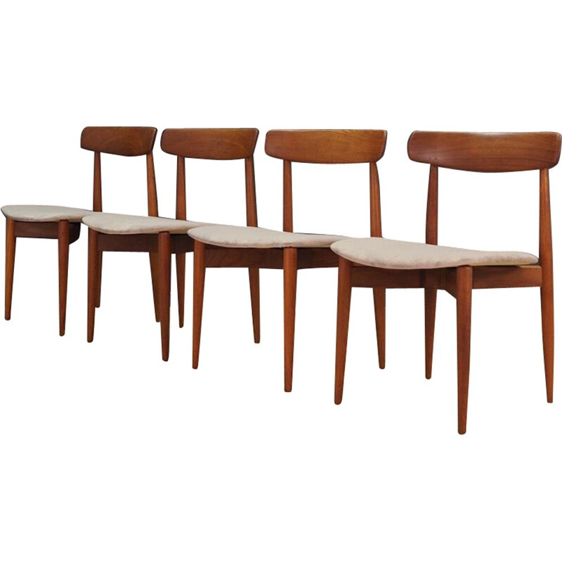 Set of 4 vintage chairs H. W. Klein 1960s