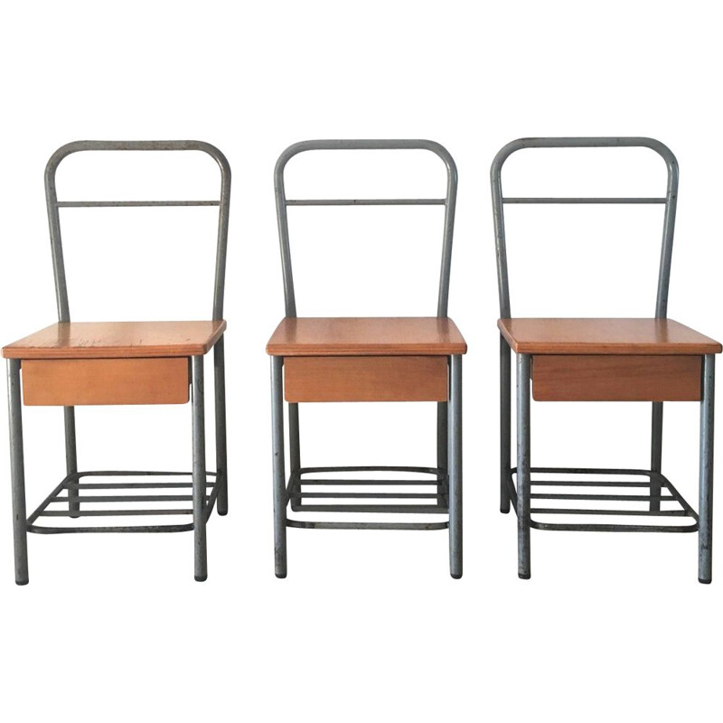Vintage school chairs, 1950