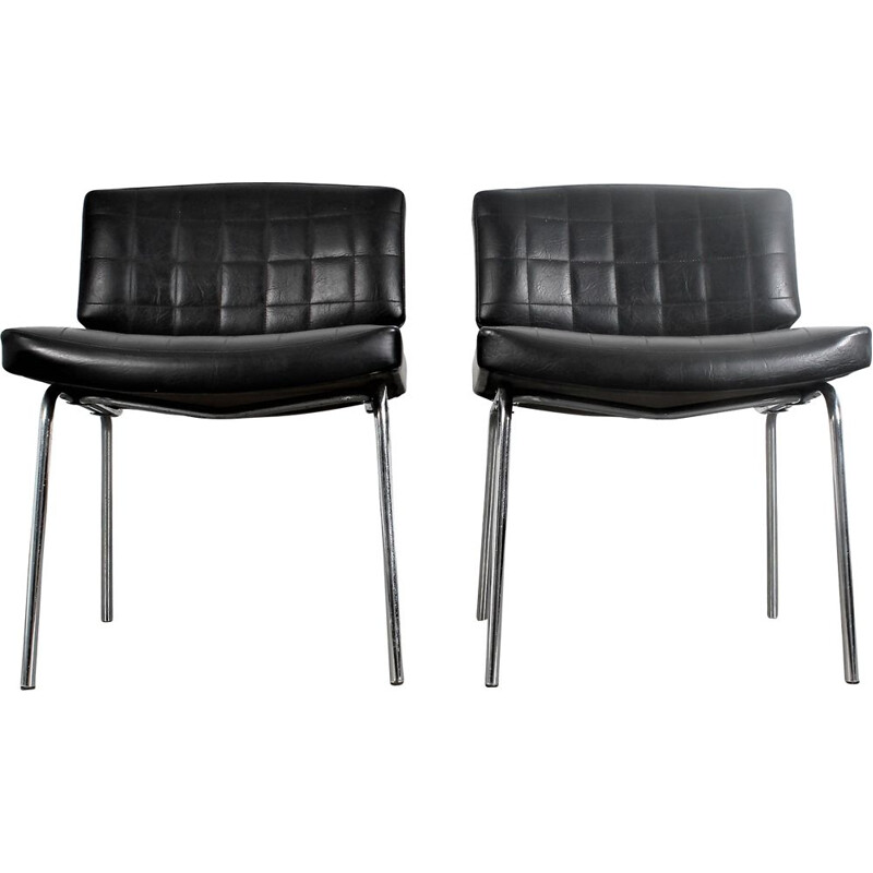 Pair of vintage Conseil fauteuils by Pierre Guariche for Meurop