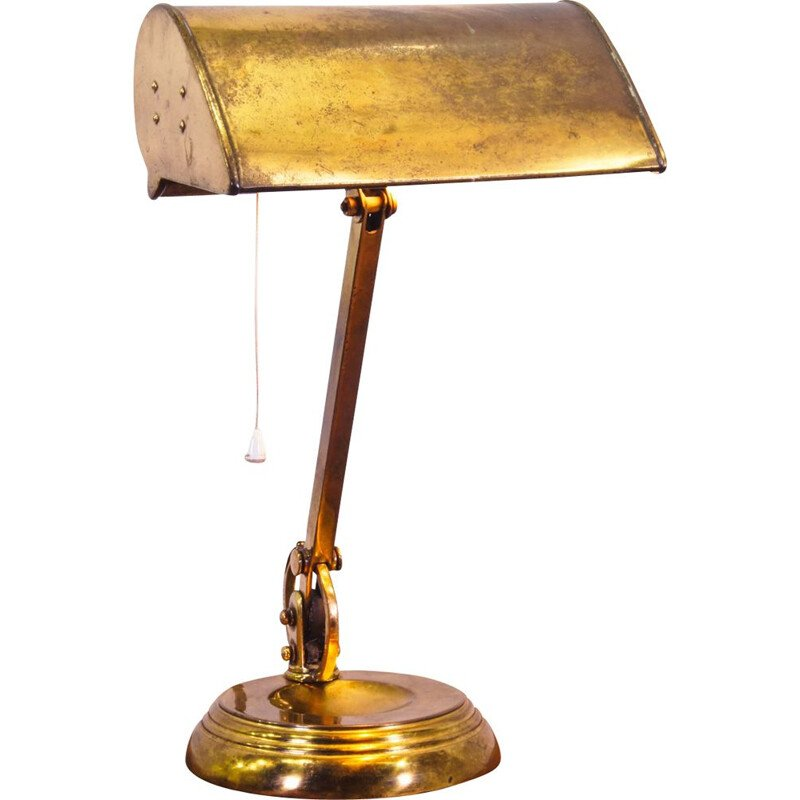 Vintage brass table lamp, England 1920s