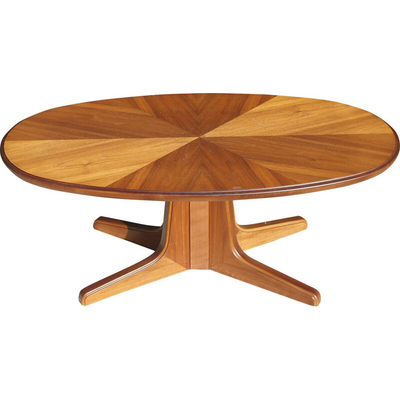 Vintage coffee table modifiable as high table Germany 1960s