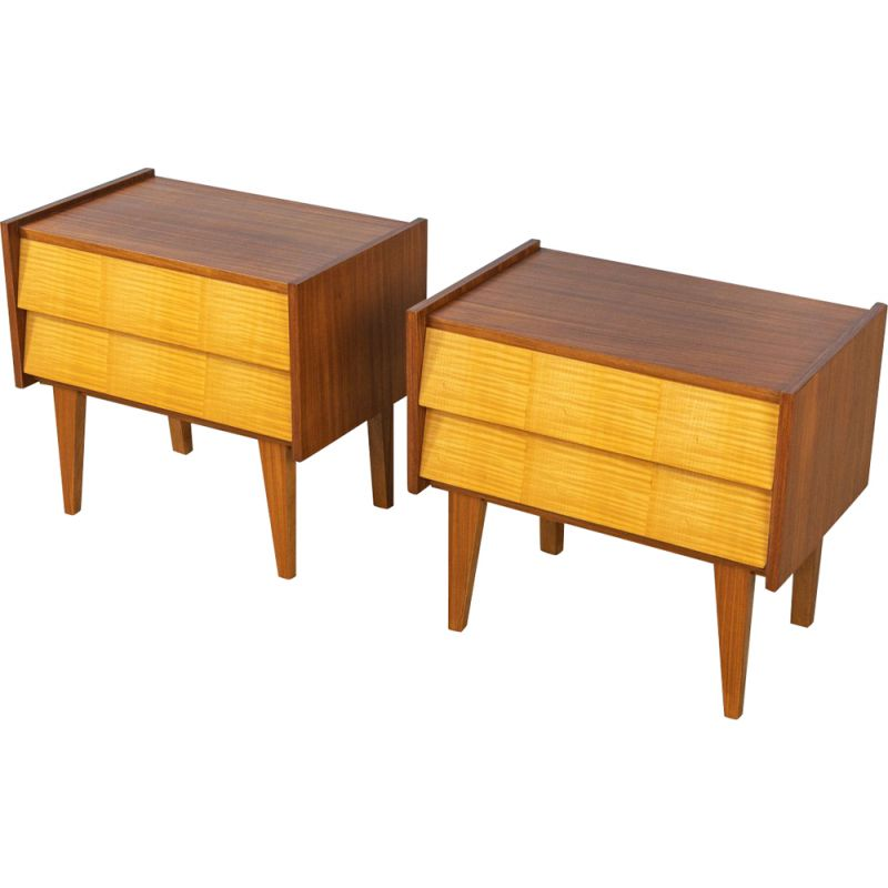 Pair of vintage bedside tables 1950