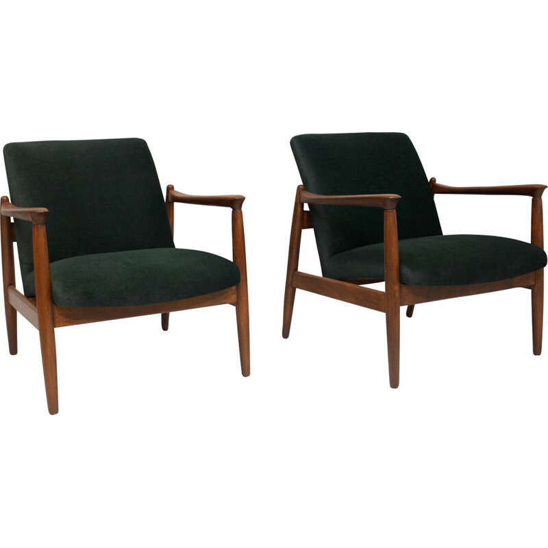 Pair of vintage armchairs by Edmund Homa 1960s