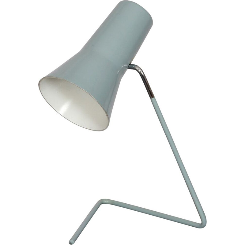 Vintage metal lamp by Josef Hurka for Drupol 1960s