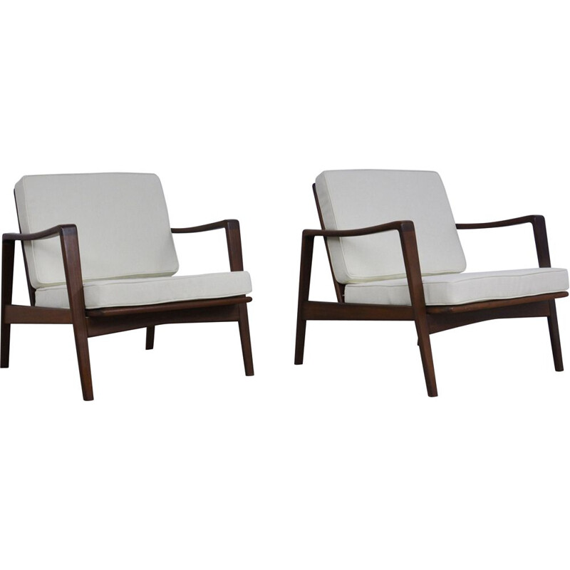 Pair of Vintage Lounge Chair by Arne Wahl Iversen for Komfort 1950s