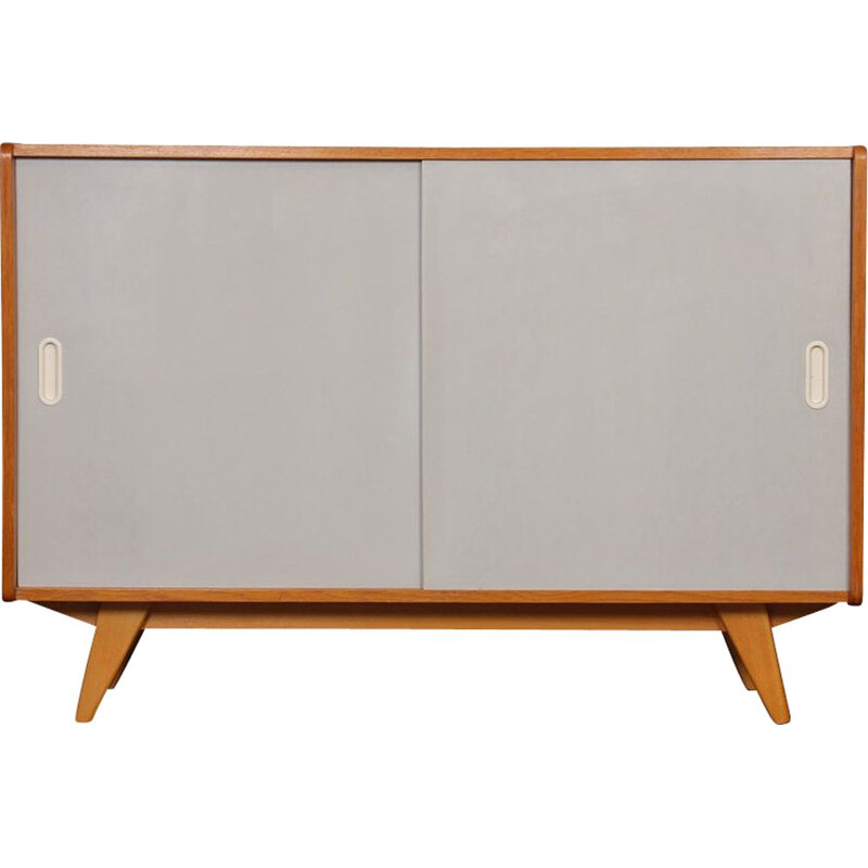 Vintage chest of drawers with sliding doors by Jiri Jiroutek 1960