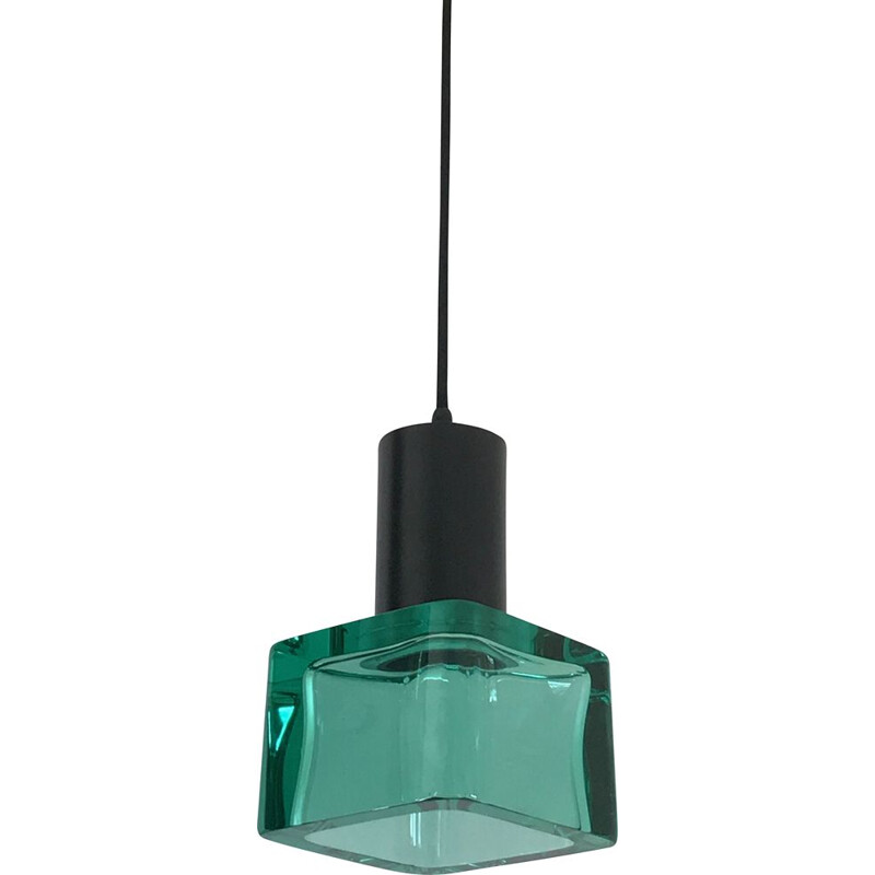 Vintage suspension lamp Flavio Poli for Seguso in Murano glass 1960