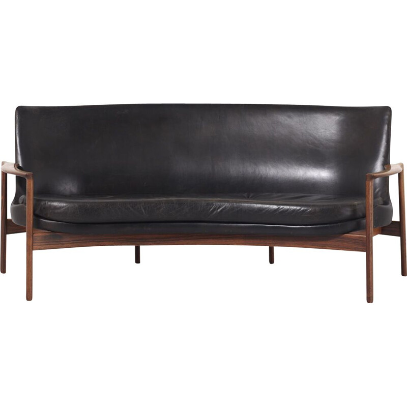 Vintage sofa by Ib Kofod-Larsen for Fröscher Germany 1970