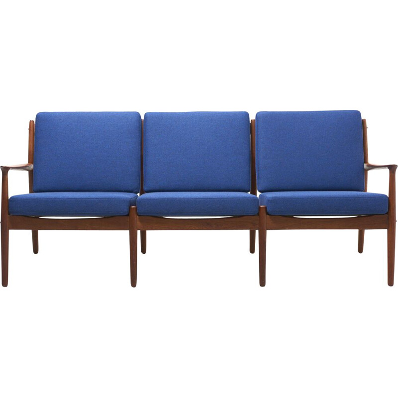 Vintage teak sofa with removable cushions by Grete Jalk for Glostrup Møbelfabrik Denmark 1960